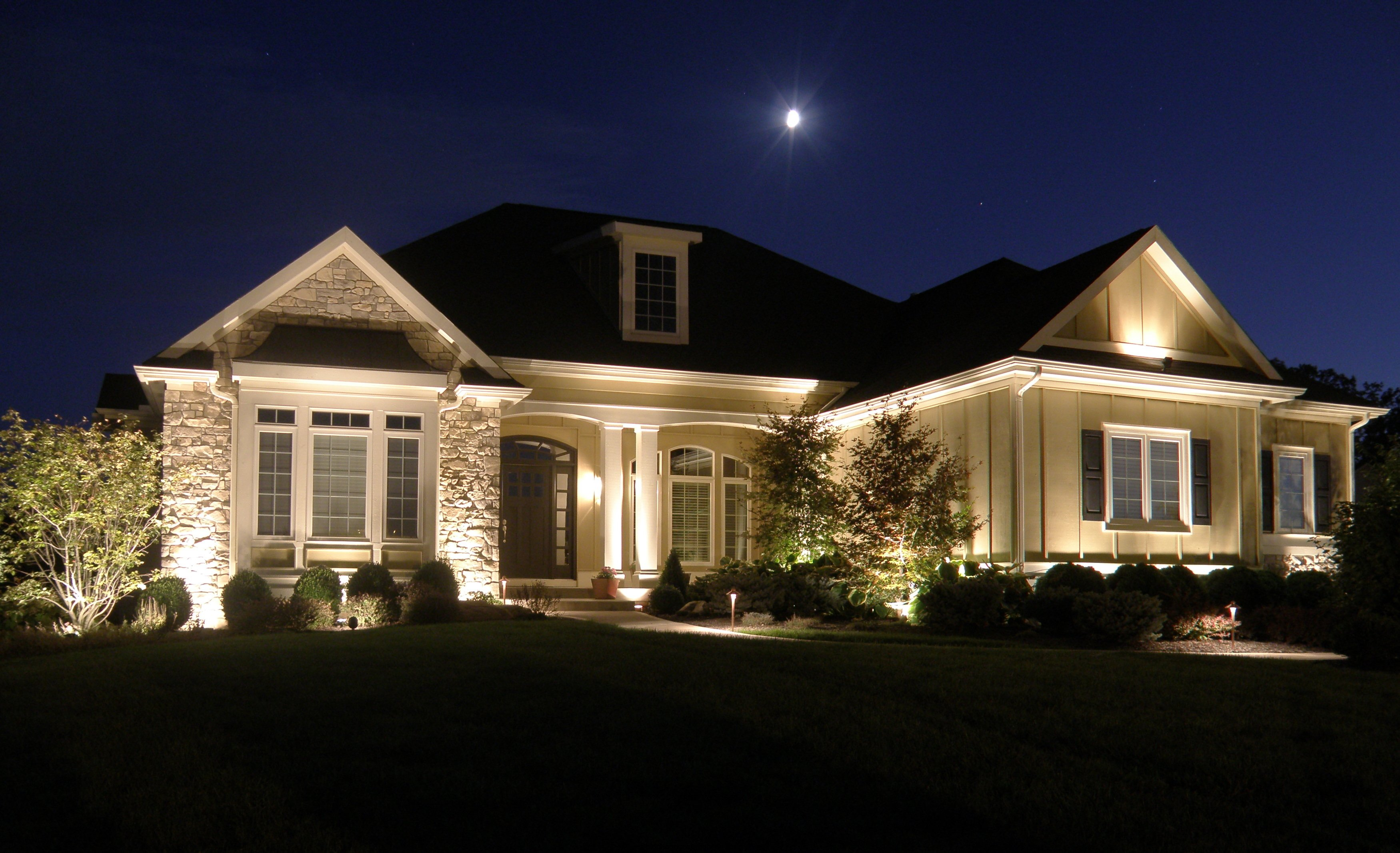 Landscape lighting - How to design outdoor lighting plan ...